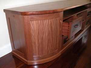 Recycled Brushbox Entertainment Unit