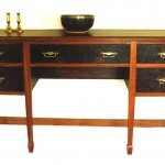 Jarrah sideboard - burl inlay