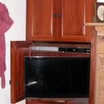 Jarrah unit with a  slide away TV