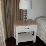 White painted bedside table