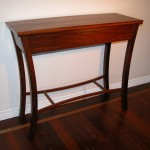 Jarrah hall table - curved legs