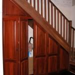 Jarrah curved arch door
