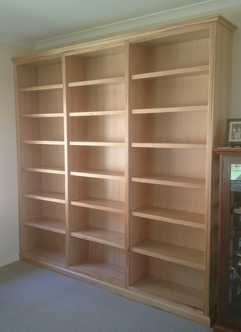 Timber Bookcase: Bookcases And Built-in