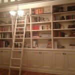 Painted bookcase / library with a ladder