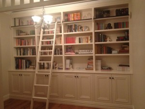 Painted Library with a ladder