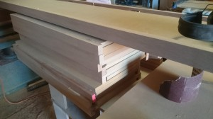 Solid timber edges ready for sandding
