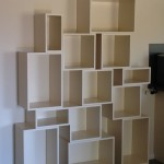 Painted boxes to create a living wall