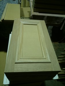 Doors cut to size with the bolection mold cut and ready to glue on - WebCopy