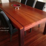 Jarrah & Sheoak dinning table - recycled Jarrah base
