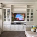 Hampton painted white TV & display unit