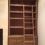 American Oak bookcase with a  ladder