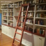 White painted bookcase with a Jarrah rolling ladder